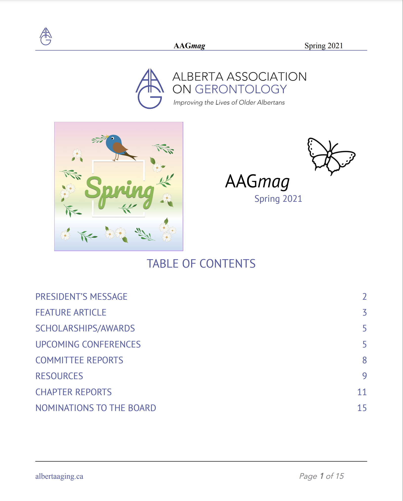 AAGmag Spring 2021 - Front Page Preview